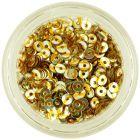 Strieborné nail art flitre CD so zlatými pásikmi