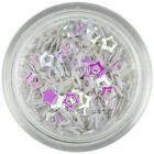 Perleťovo biele nail art hviezdičky