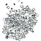 Strieborné nail art hviezdičky, hologram