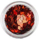 Oranžovočervené nail art kvietky