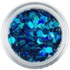Ozdobné konfety - tyrkysovo modré kvety
