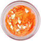 Sýto oranžové glitre do aqua tipov - diamanty
