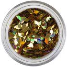 Kosoštvorec - sýto zlatý, hologram