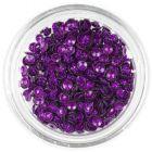 Ozdobné konfety - fialové 3D mušle, trblietavé