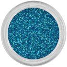 Tyrkysovo modrý trblietavý prášok