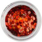 Oranžovočervené šesťhrany - holografické