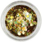 Zlatý nail art šesťhran - holografický