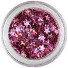 Nail art hviezdičky - ružovofialové