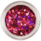 Červené nail art hviezdičky