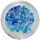 Nail art ozdoby - látkové hviezdičky, modré opálové