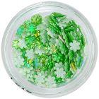 3D kvietky – perleťovo zelené