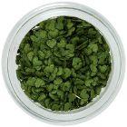 Dekorácia na nechty - olivovo zelené látkové srdiečka