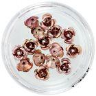 Dekorácia na nechty - hnedé keramické ruže