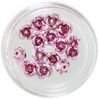 Keramické nechtové ozdoby - ružové ruže