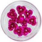Dekorácia na nechty, 10ks - cyklámenové keramické ruže