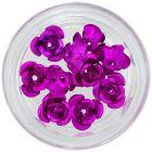 Keramické nechtové ozdoby, 10ks - ružovo-cyklámenové