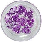 Svetlofialové keramické ruže, 10ks