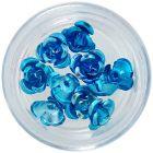 Dekorácia na nechty, 10ks - tyrkysové keramické ruže