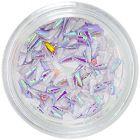 Látkové nechtové ozdoby - fialové kvapôčky