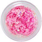 Dekorácia na nechty - svetloružové látkové mašličky