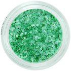 Nepravidelné ozdoby na nechty - zelené