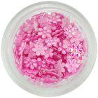 Kvietky látkové - perleťovo svetloružové