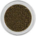 Ozdoby na nechty - 0,5mm perly, čiernozlaté