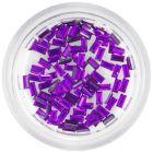 Tmavofialové kamienky na nechty - obdĺžniky