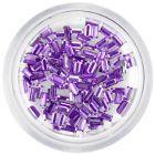 Ozdoby na nechty - svetlofialové kamienky, obdĺžniky