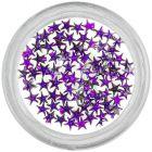 Tmavofialové kamienky na nechty - hviezdičky