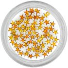 Ozdobné kamienky, hviezdičky - oranžové