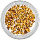 Ozdobné kamienky, trojuholník - oranžové