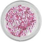Svetloružové kamienky na nechty - trojuholník