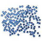 Kamienky na nechty - štvorce, modré 140ks