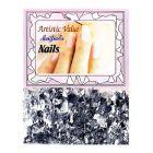 Ozdoby na nechty striebornej farby – šupinky