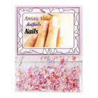 Ozdoby na nechty ružovej farby – šupinky