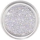 Perleťové ozdoby v tvare srdiečka - svetlomodré