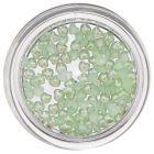 Nechtové ozdoby s perleťou - svetlozelené srdiečka