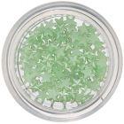 Perleťové ozdoby v tvare hviezdičky - svetlozelené