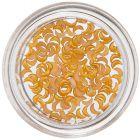 Mesiačiky na zdobenie nechtov - oranžovo-žlté, perleť