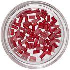 Obdĺžniky na zdobenie nechtov - červené, perleť