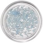 Rovné slzičky na zdobenie nechtov - svetlomodré, perleť
