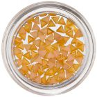 Trojuholníky na zdobenie nechtov - žlto-oranžové, perleť
