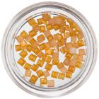 Štvorce na zdobenie nechtov - žlto-oranžové, perleť