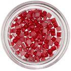 Štvorce na zdobenie nechtov - červené, perleť