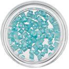 Nechtové ozdoby s perleťou - tyrkysovo modré štvorce