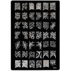 Šablóna s vyrytými vzormi na pečiatkovanie nechtov - 021, XL
