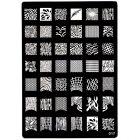 Kovová doštička XL na zdobenie nechtov pečiatkovaním, 017