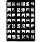 Šablóna s vyrytými vzormi na pečiatkovanie nechtov - 016, XL